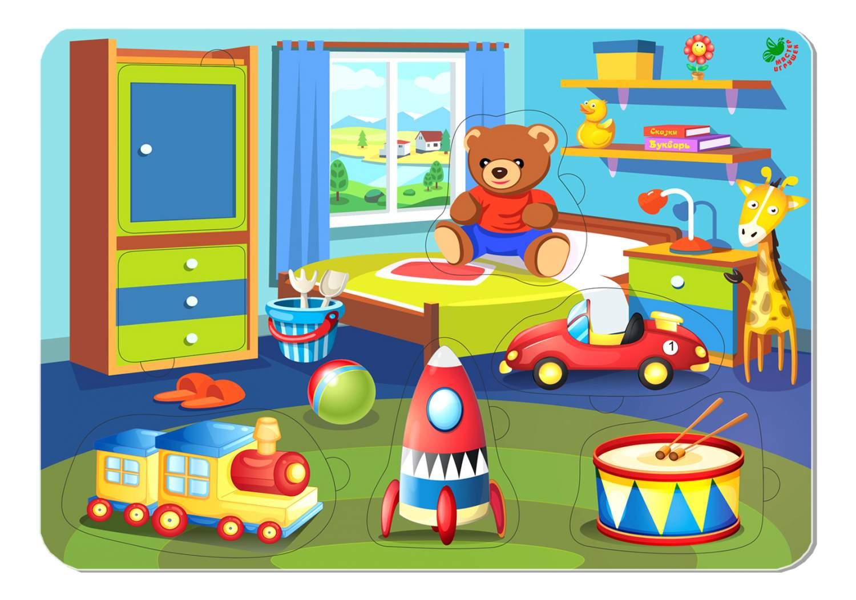 Видео, картинка детской комнаты с игрушками