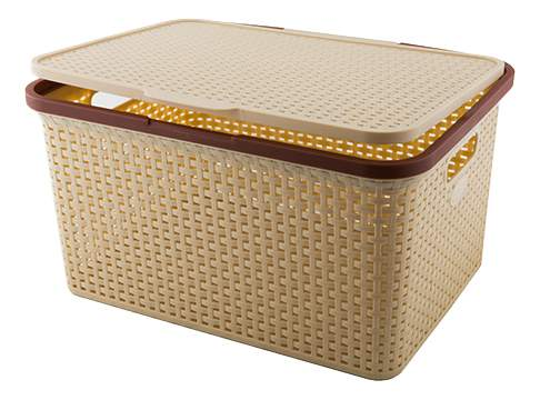 Ящик для хранения Полимербыт 46х34,5х24,5 см купить, цены в Москве на sbermegamarket.ru