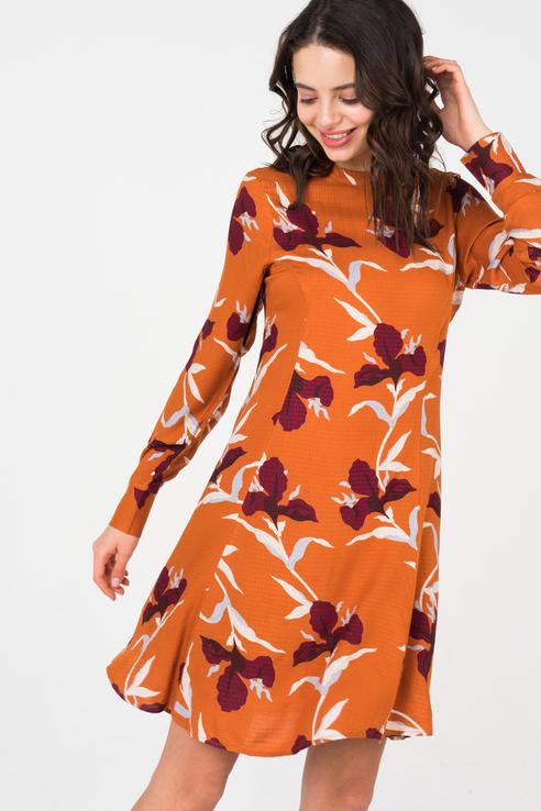 Платье женское Y.A.S 26012026 оранжевое XL - купить в Москве - sbermegamarket.ru