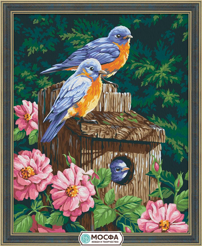 "Купить картина по номерам ""Домик для птиц"" (27 цветов ..."