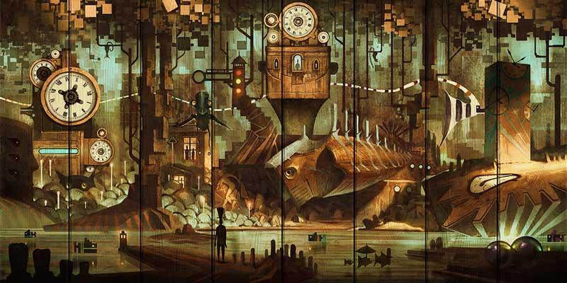 Картина на дереве Дом Корлеоне Город часов 01-0302-70х140