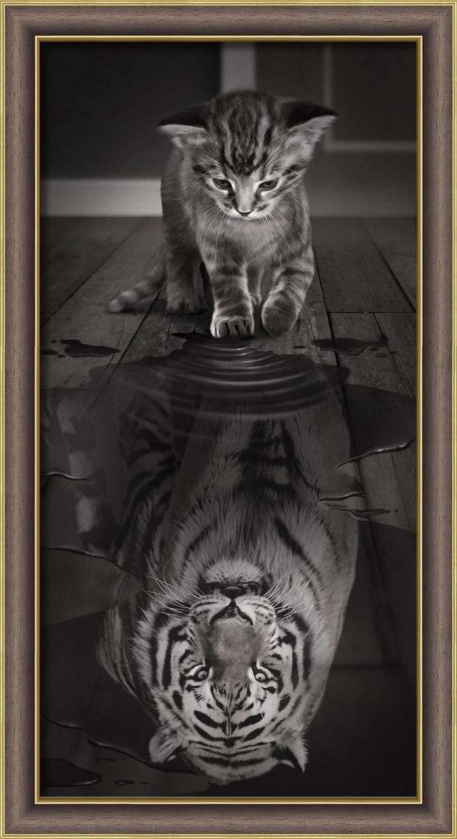 Купить картина стразами «Тигр внутри» (АЖ-1771), цены в Москве на goods.ru