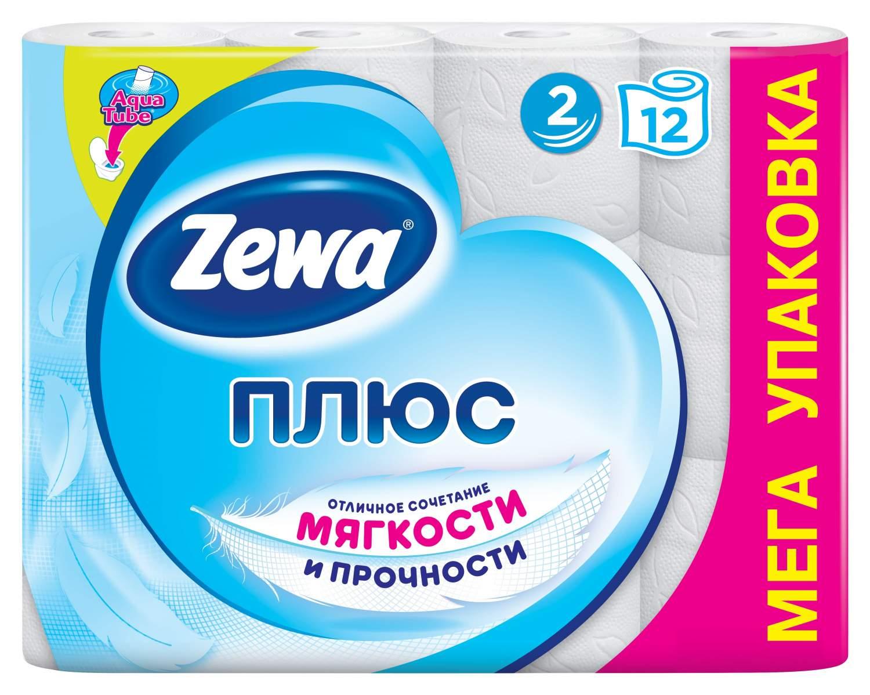 Туалетная бумага Zewa Плюс Белая, 2 слоя, 12 рулонов - Маркетплейс goods.ru