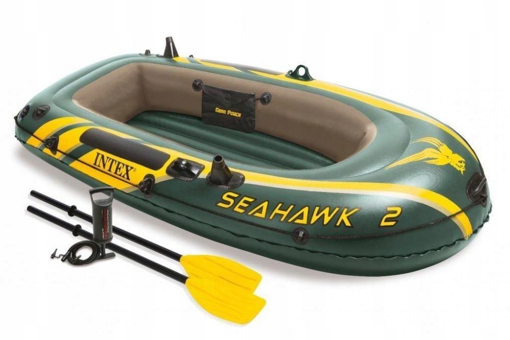 Лодка Intex Seahawk 2 Set с веслами 2,36 x 1,14 м green купить, цены в Москве на goods.ru