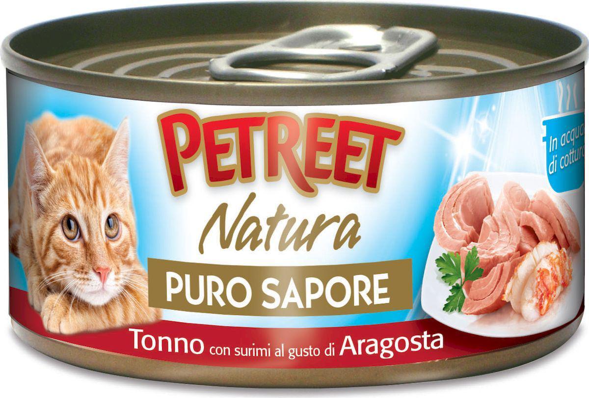 Купить консервы для кошек Petreet Natura, кусочки тунца с сурими со вкусом лобстера 70г, цены в Москве на sbermegamarket.ru | Артикул: 100024447567