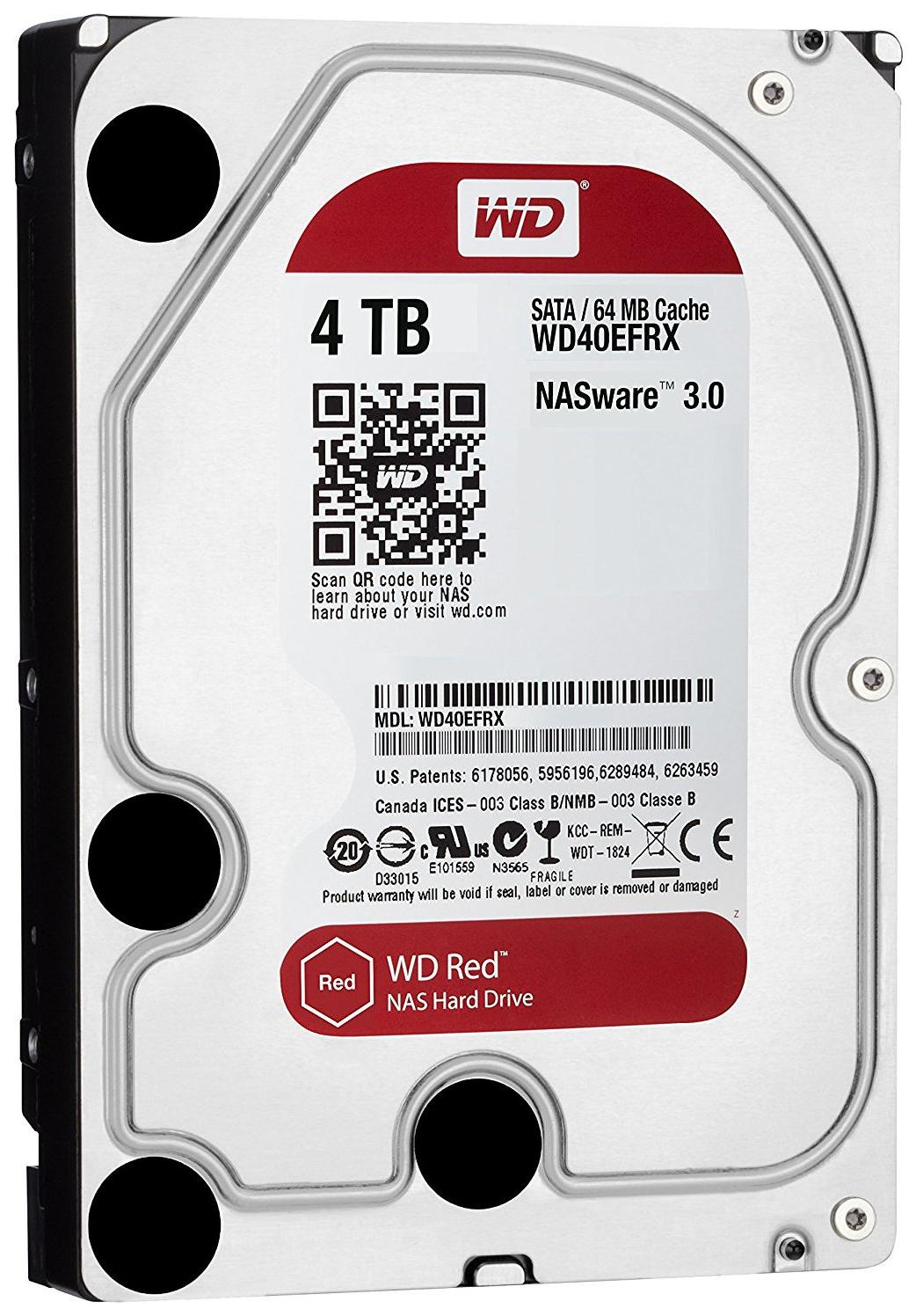 Внутренний жесткий диск Western Digital Red 4TB (WD40EFRX), купить в Москве, цены в интернет-магазинах на goods.ru
