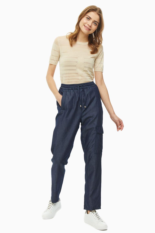 Купить брюки женские Trussardi Jeans 56P00200-1T003759-A-001.U290 синие 42 IT, цены в Москве на goods.ru