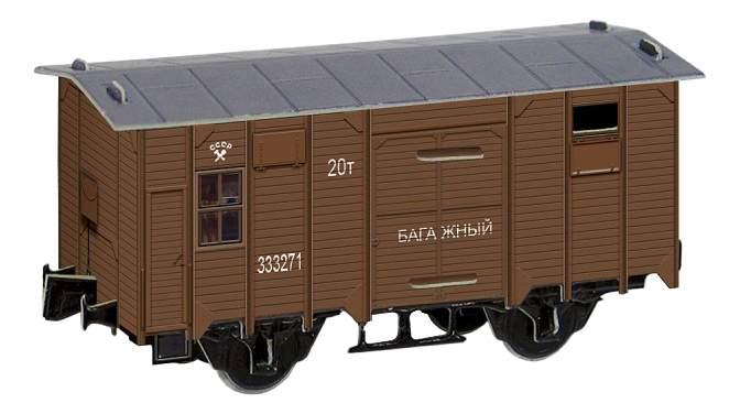 Купить модель для сборки Умная бумага Временно-багажный вагон 1935-1945 рр., цены в Москве на goods.ru
