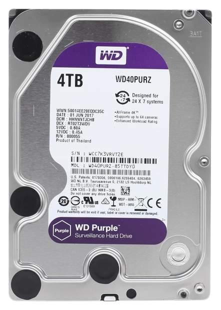 Внутренний жесткий диск Western Digital Purple 4TB (WD40PURZ), купить в Москве, цены в интернет-магазинах на goods.ru