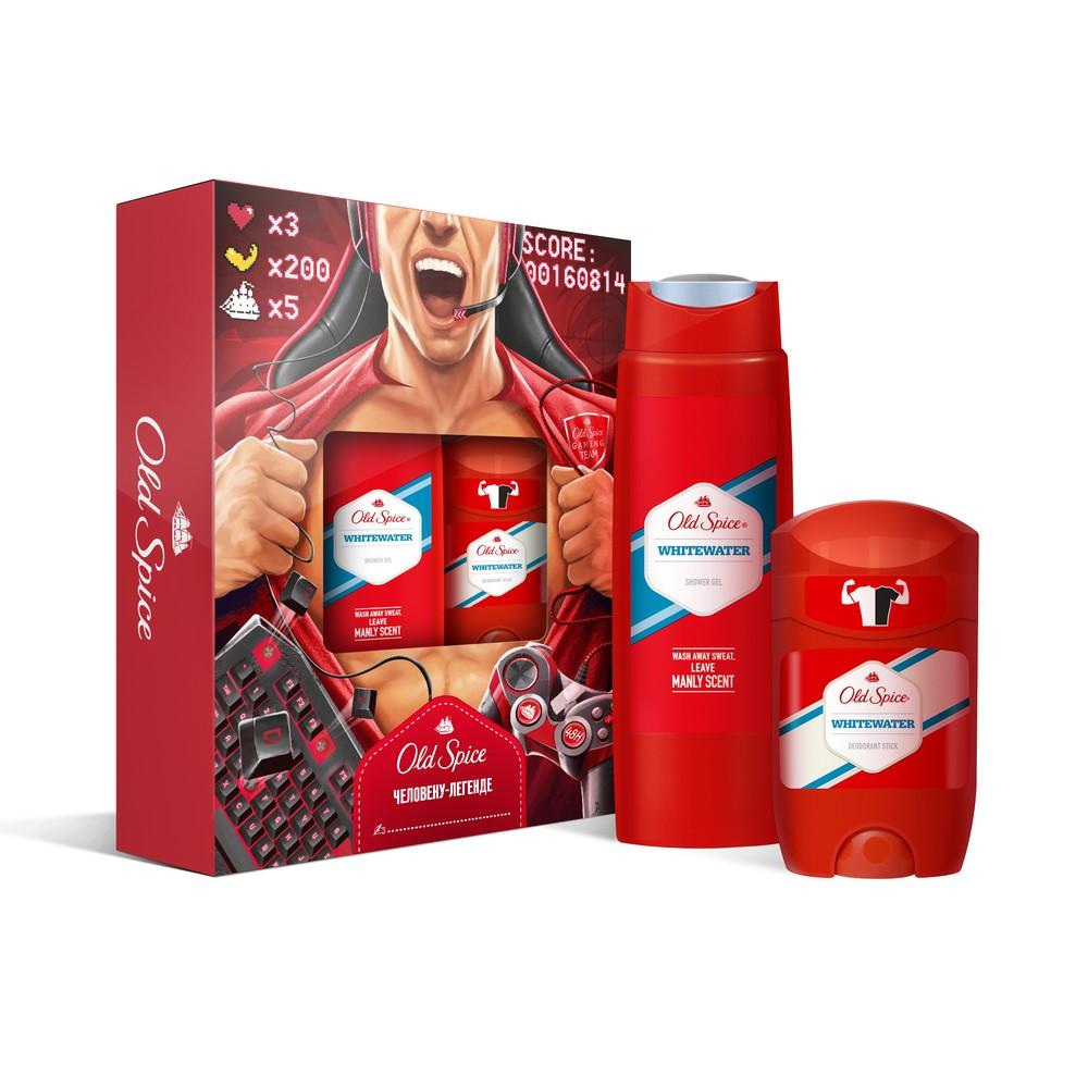 Купить подарочный набор OLD SPICE Дезодорант WhiteWater 50мл + Гель для душа WhiteWater 250мл, цены в Москве на goods.ru