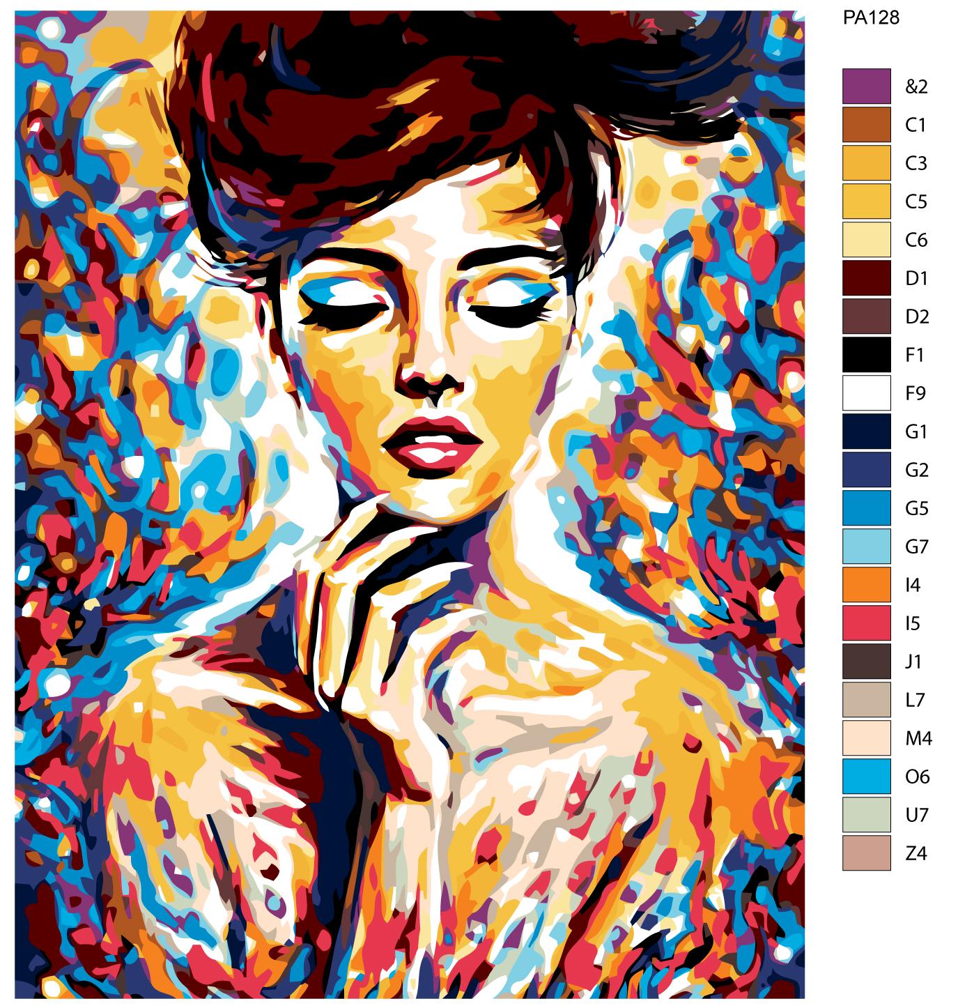 Купить картина по номерам, 40 x 50, PA128, цены в Москве ...