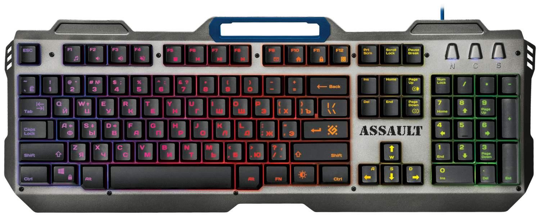 Игровая клавиатура Defender Assault GK-350L Silver/Black, купить в Москве, цены в интернет-магазинах на goods.ru