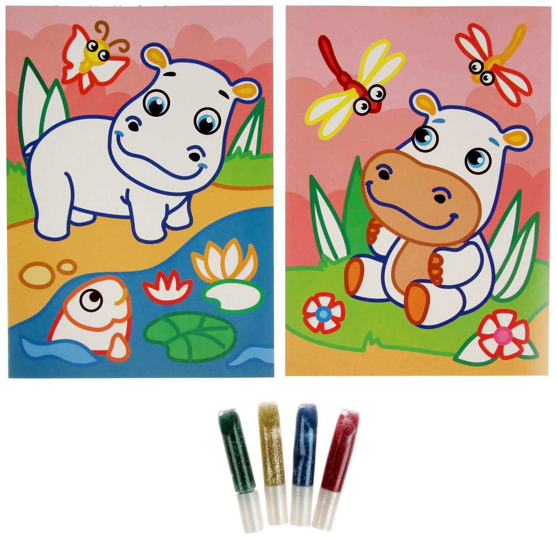 купить раскраска феникс блестящие раскраски бегемотик цены