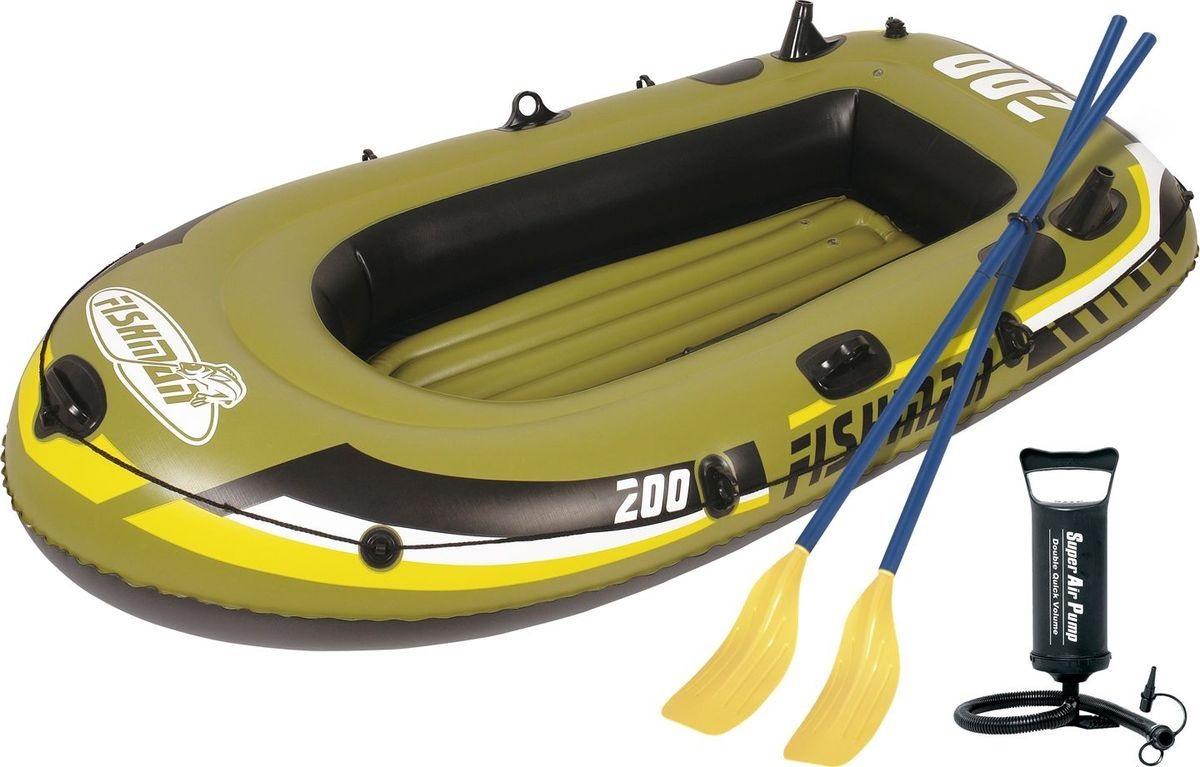 Лодка Jilong Fishman 200-set 2,18 x 1,1 м green купить, цены в Москве на goods.ru
