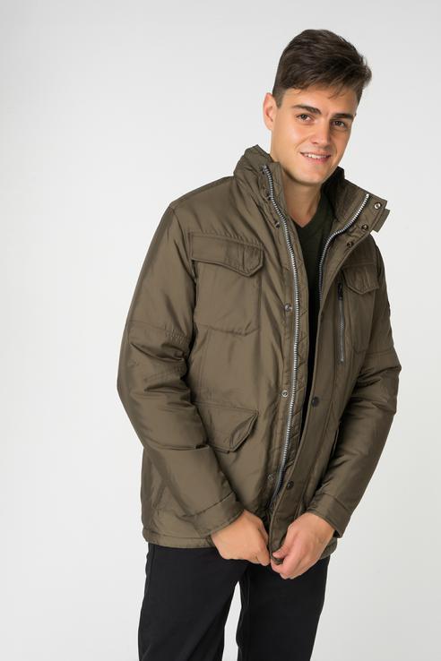 Купить куртка мужская Baon B538513 зеленая L, цены в Москве на goods.ru