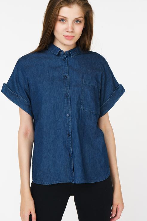 Купить рубашка женская Concept Club 10200270272 синяя XS, цены в Москве на goods.ru
