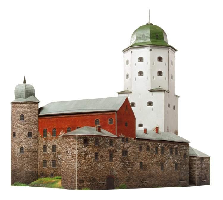 Купить модели для сборки УмБум Архитектурные памятники Выборгский замок 79 деталей, цены в Москве на goods.ru