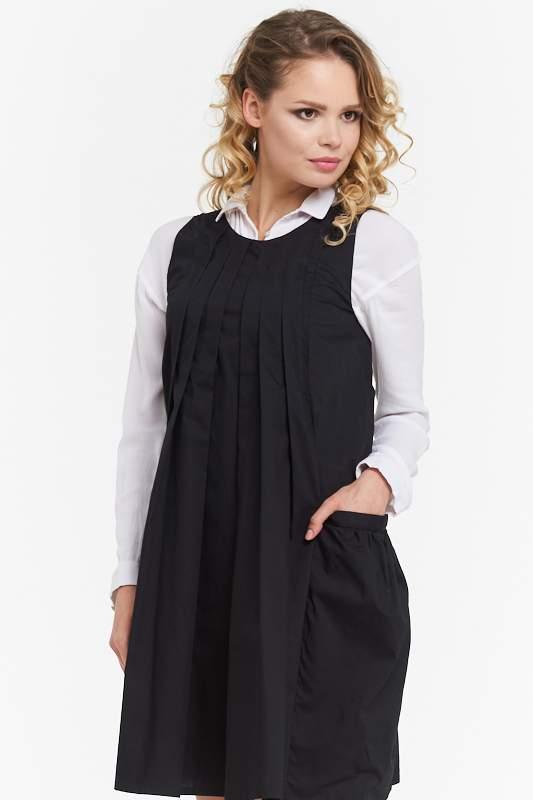 Платье женское VAY 182-3449 черное 42 RU