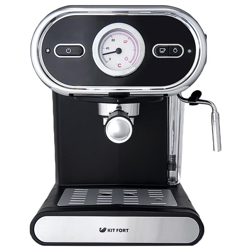 Рожковая кофеварка Kitfort КТ-702 Black - характеристики, техническое описание - маркетплейс goods