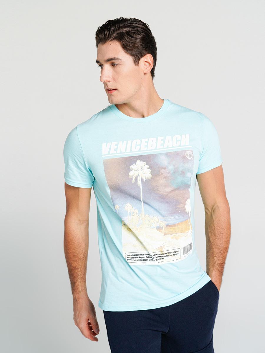 Купить футболка мужская ТВОЕ 68849 голубая L, цены в Москве на goods.ru