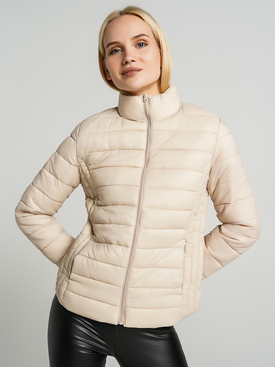 Купить куртка женская ТВОЕ A6565 бежевая M, цены в Москве на goods.ru