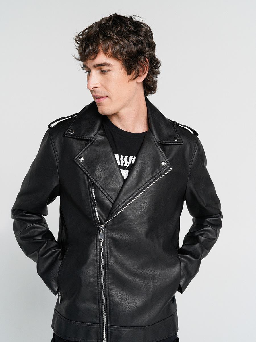 Купить куртка мужская ТВОЕ A6614 черная M, цены в Москве на goods.ru