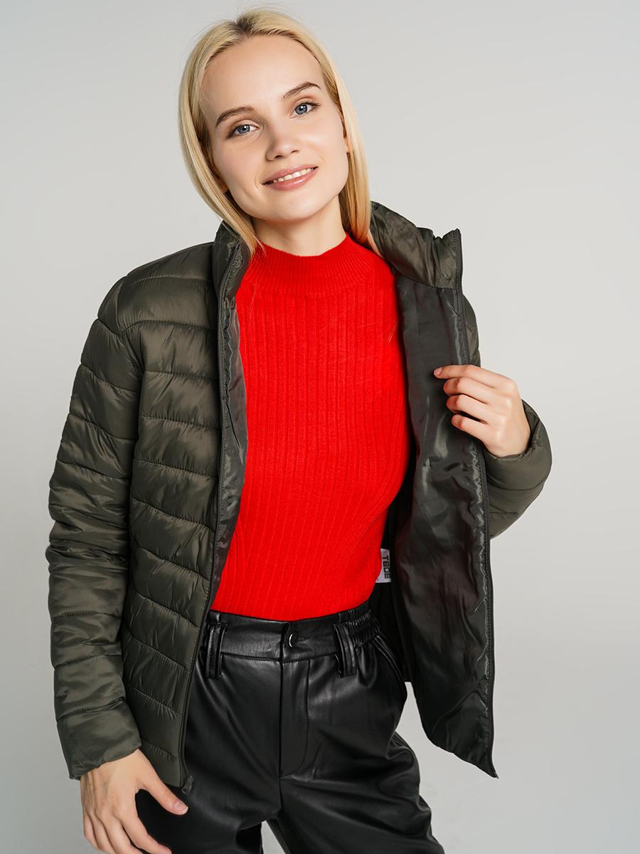 Купить куртка женская ТВОЕ A6565 зеленая L, цены в Москве на goods.ru