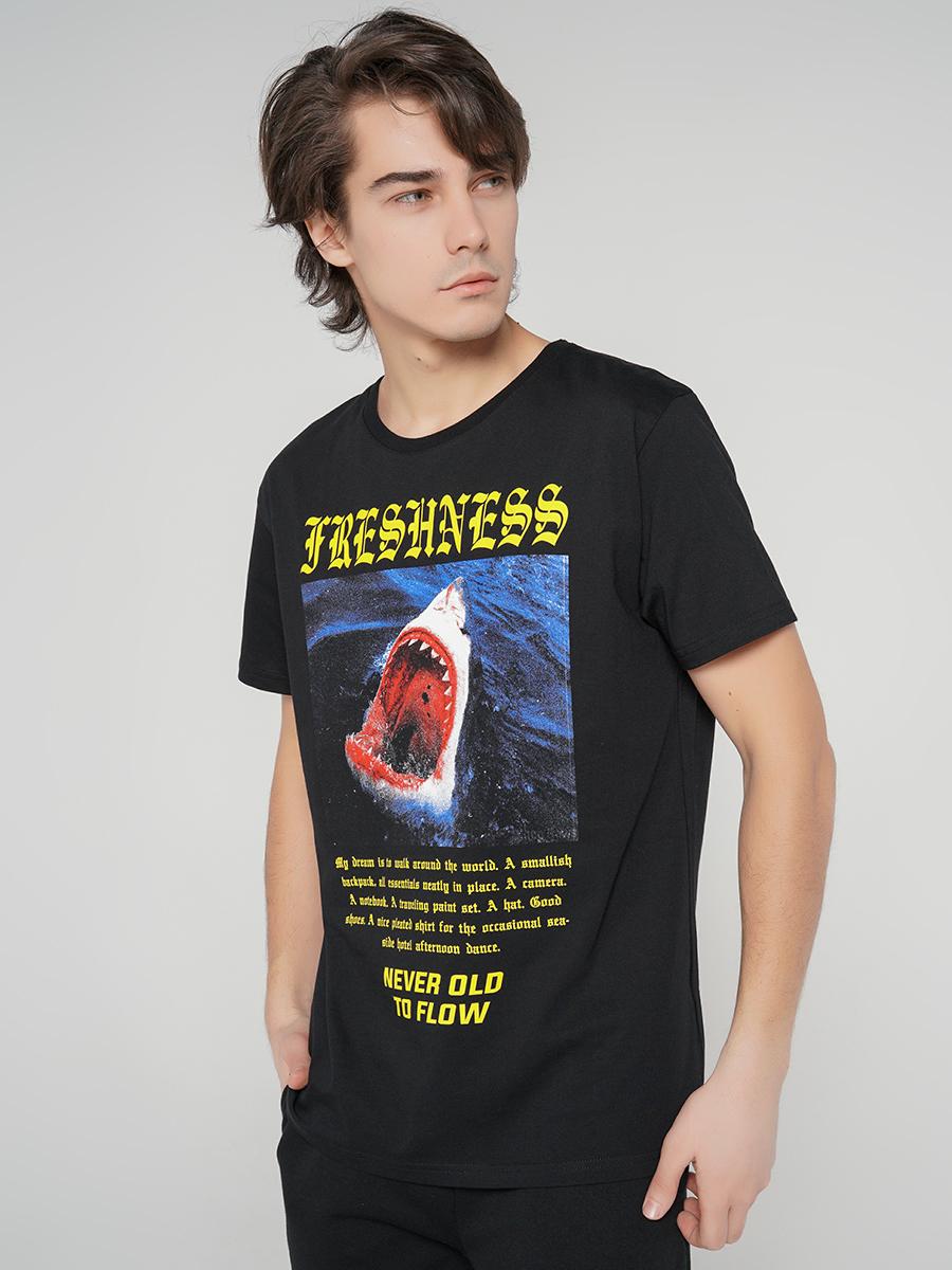 Купить футболка мужская ТВОЕ 63157 черная XXL, цены в Москве на goods.ru