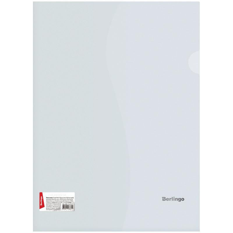 Папка-уголок, А4, 180 мкм, прозрачная бесцветная, штрих-код