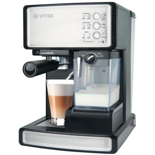 Рожковая кофеварка Vitek VT-1514 BK Black, купить в Москве, цены в интернет-магазинах на goods.ru