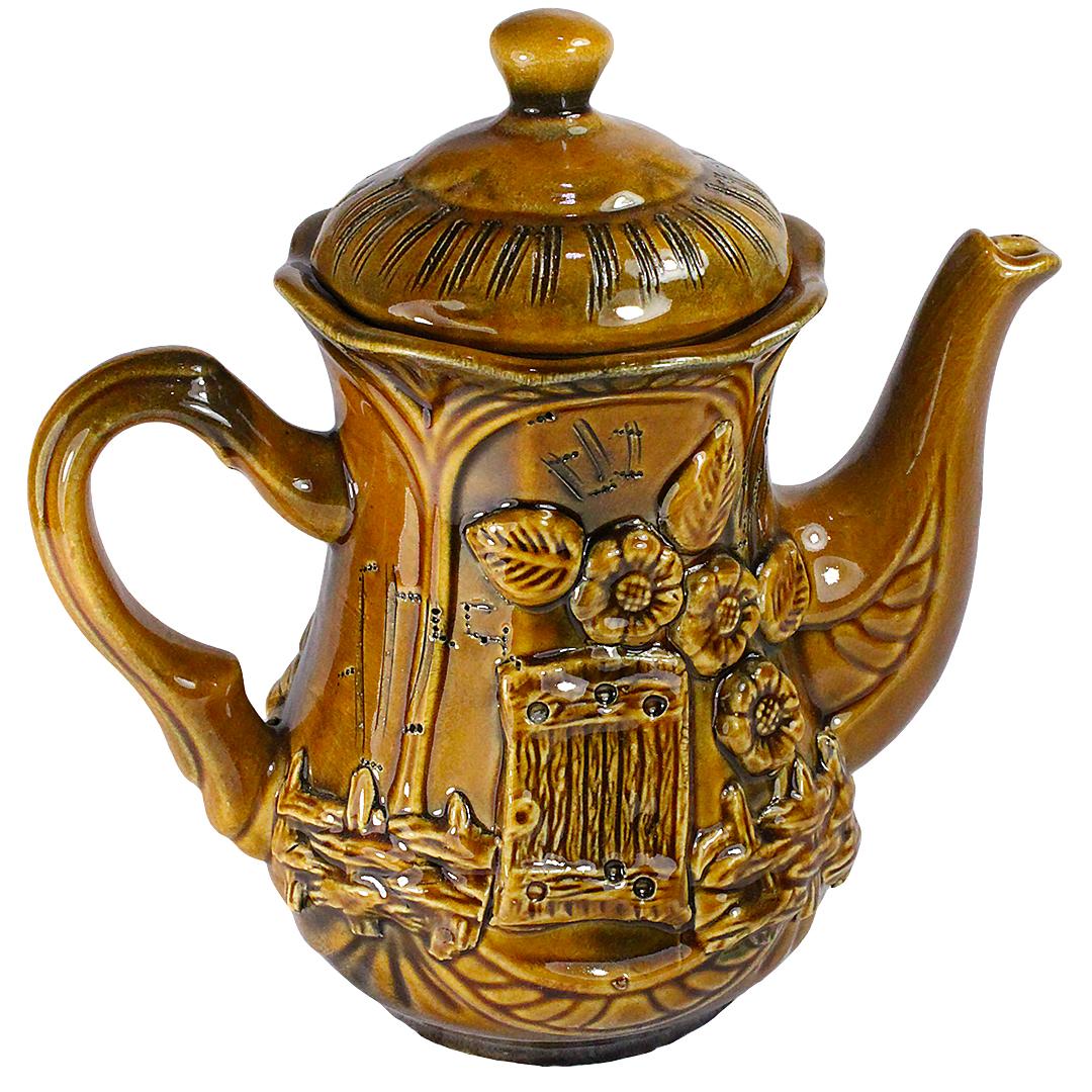 """Чайник """"Ажур"""" коричневый 1,1 л. Солнечногорская керамика купить, цены в Москве на goods.ru"""
