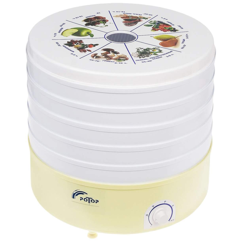 Сушилка для овощей и фруктов Ротор СШ-002 white/yellow, купить в Москве, цены в интернет-магазинах на sbermegamarket.ru