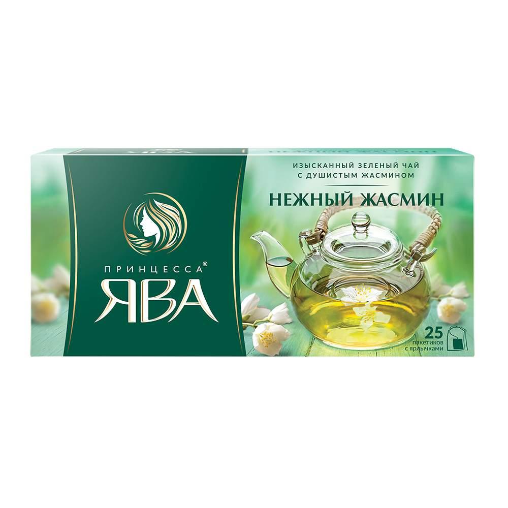 Чай зеленый Принцесса Ява Нежный Жасмин 25 пакетиков