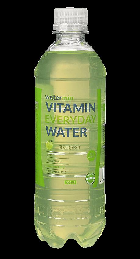 Витаминизированная вода Wаtermin яблоко на каждый день 0.5 л
