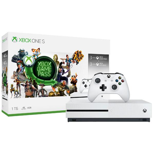 Игровая приставка Microsoft Xbox One S 1Tb White + 3M Season pass + Xbox LIVE 3м