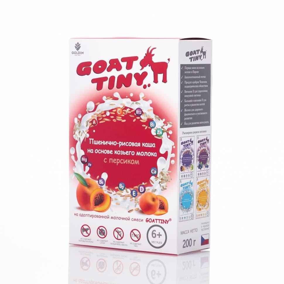 Каша GOATTINY Пшенично-рисовая с персиком на козьем молоке от 6 мес 200 гр