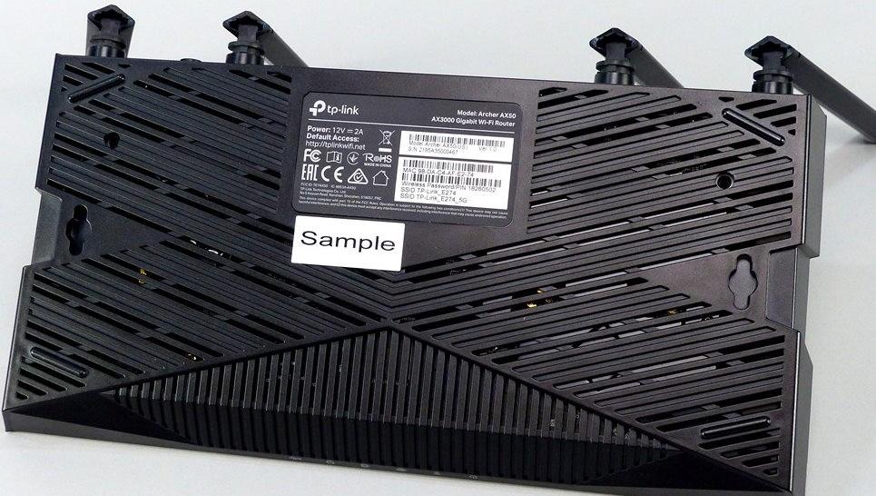 Миниатюра Wi-Fi роутер TP-Link Archer AX50 AX3000 Black №9