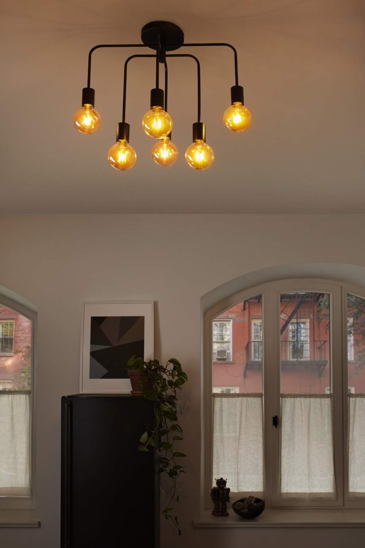 Миниатюра Светильник потолочный серии Винтаж 1906 PIPE BENT 570X300X540 LEDVANCE Черный IPIP 20 №7