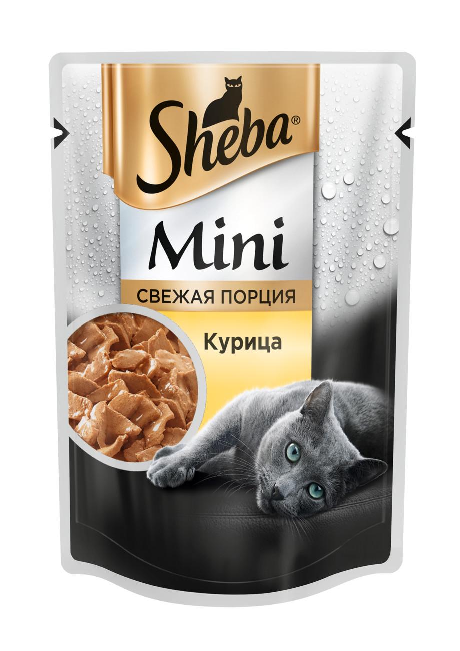 Миниатюра Влажный корм для кошек Sheba Mini мини порция c курицей, 33 шт по 50г №2
