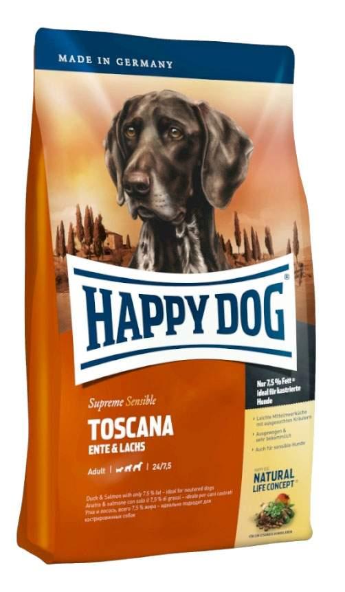 Миниатюра Сухой корм для собак Happy Dog Supreme Sensible Toscana, утка, лосось, 12,5кг №2