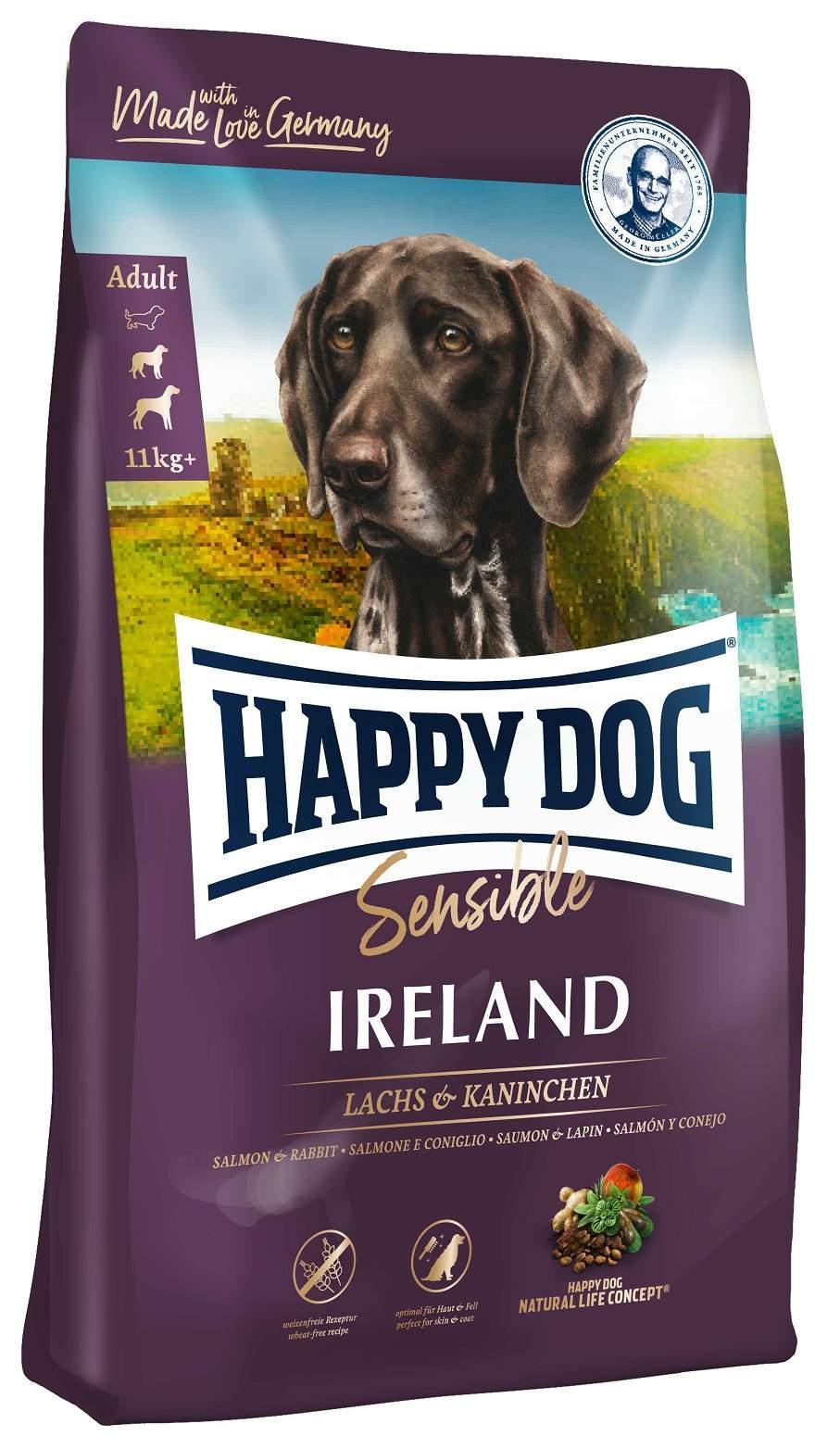 Миниатюра Сухой корм для собак Happy Dog Supreme Sensible Irland, кролик, лосось, 12,5кг №1
