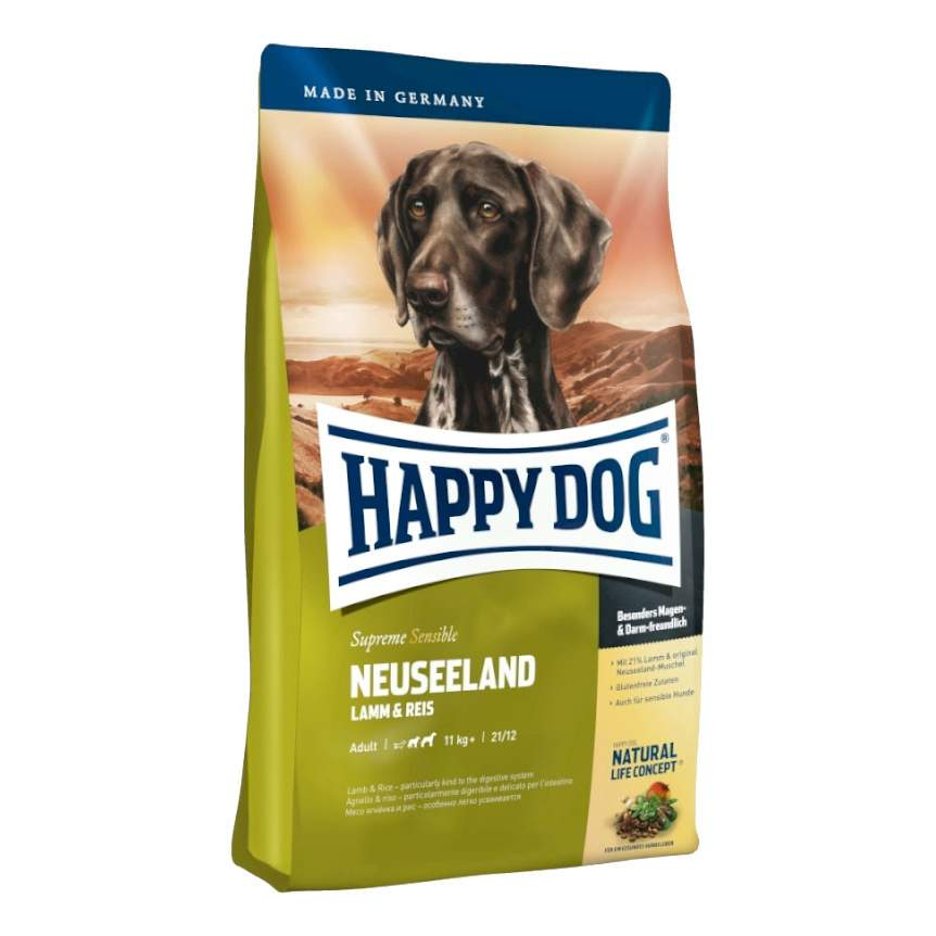 Сухой корм для собак Happy Dog Supreme Sensible Neuseeland, ягненок, рис, 12,5кг