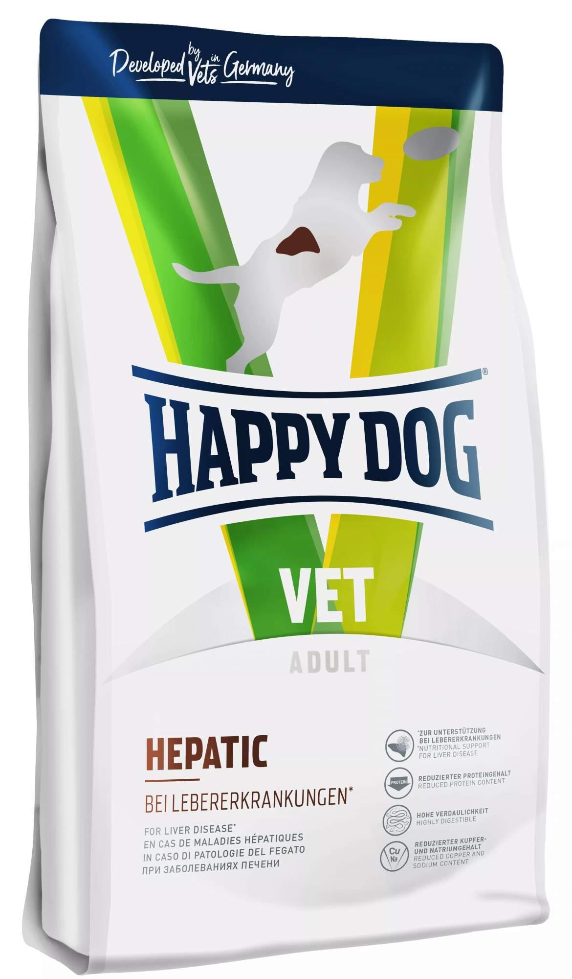 Миниатюра Сухой корм для собак Happy Dog Vet Hepatic, При заболеваниях печени лосось, рис, 4кг №1