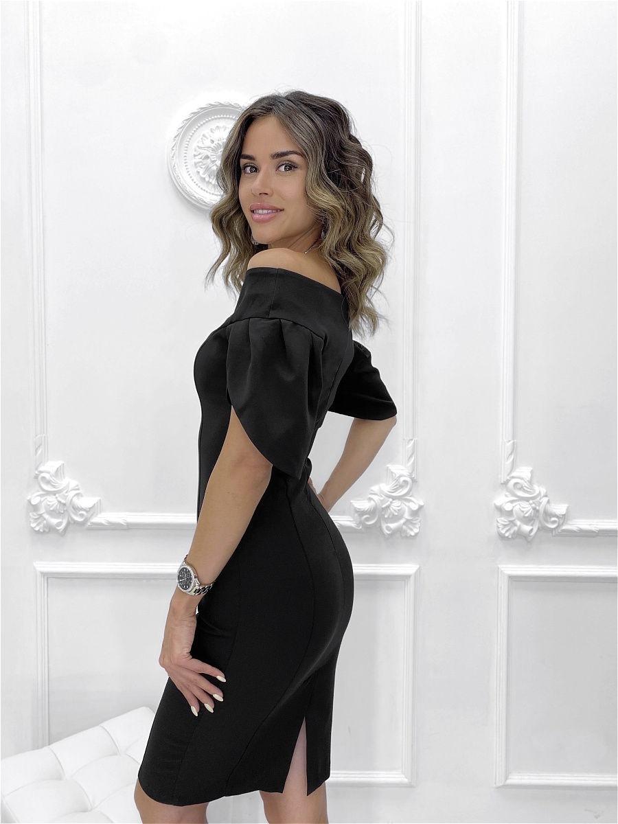 Повседневное платье женское Nadi Bordo 3273 черное 44-M