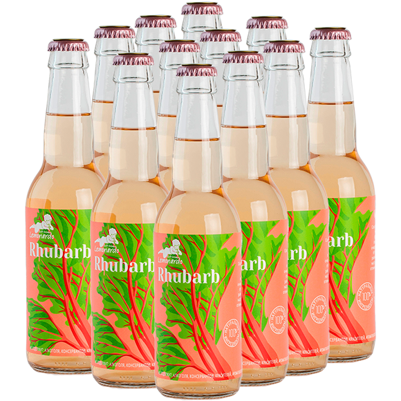 Натуральный лимонад из ревеня без сахара / Lemonardo Rhubarb, 330мл. 12 шт.