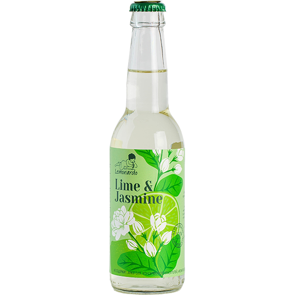 Натуральный лимонад лайм и жасмин / Lemonardo Lime & Jasmine, 330мл. 12шт.