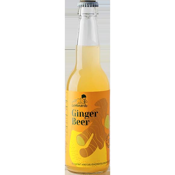 Натуральный имбирный лимонад / Lemonardo Ginger Beer, 330мл. 12шт.