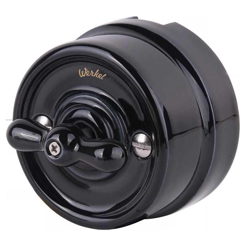 Выключатель Werkel WL18-01-05 черный