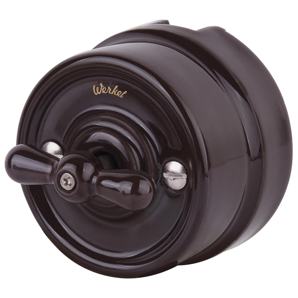 Выключатель Werkel WL18-01-05 коричневый