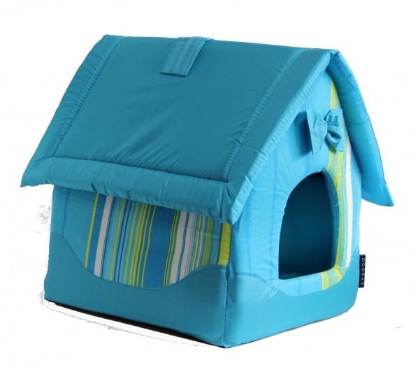 Домик для кошек и собак DOGMAN Будка средняя (микс), в ассортименте, 45x35x35см
